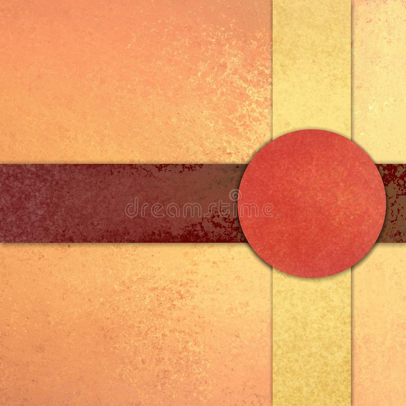 Red circle or button on intersecting lines, abstract background design royalty free stock photo