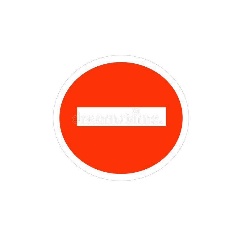 Red circle road sign vector. Vector illustration depicting a road sign icon stock illustration