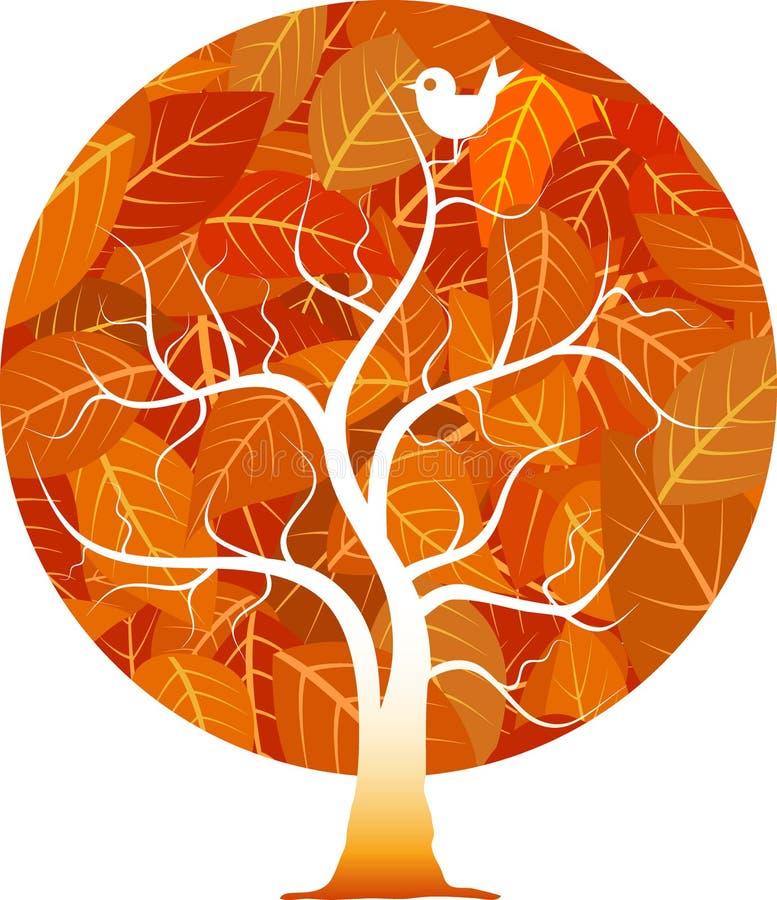 Red circle tree stock illustration