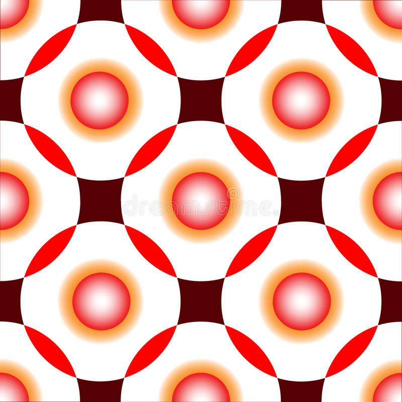 Download Red Circles Seamless Pattern Stock Vector - Illustration of material, colors: 12144464