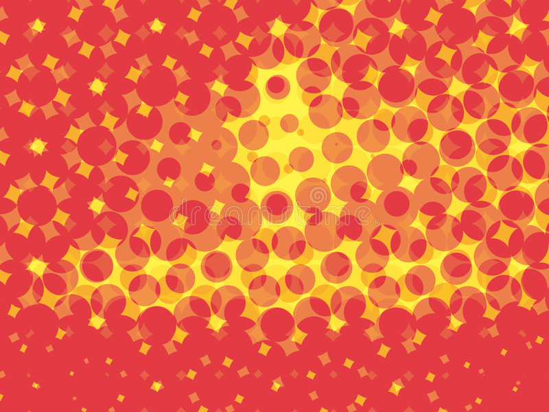 Red circles and yellow fractals royalty free stock photography