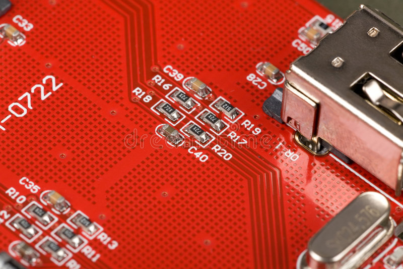 Download Red Circuit Board stock photo. Image of science, plank - 4960794