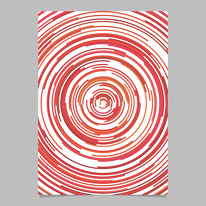 Red circular abstract page background template from concentric half circles stock illustration