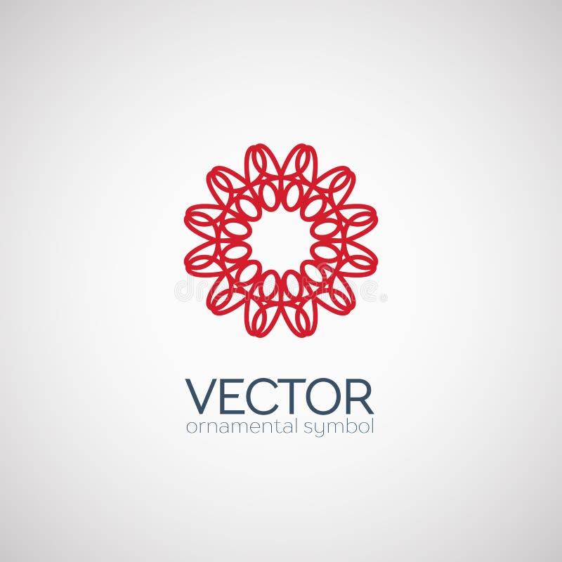 Vector geometric symbol royalty free illustration
