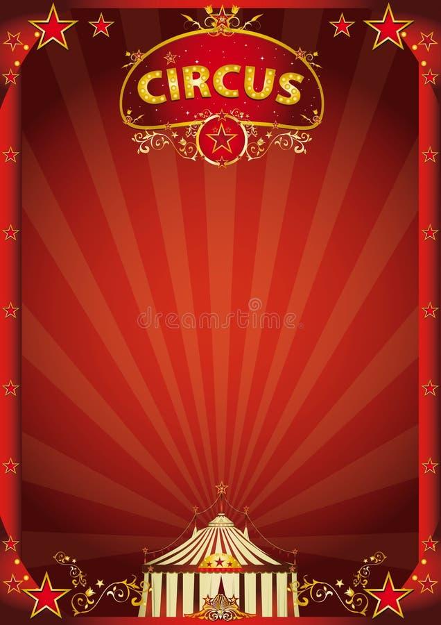 Red circus fantastic stock image
