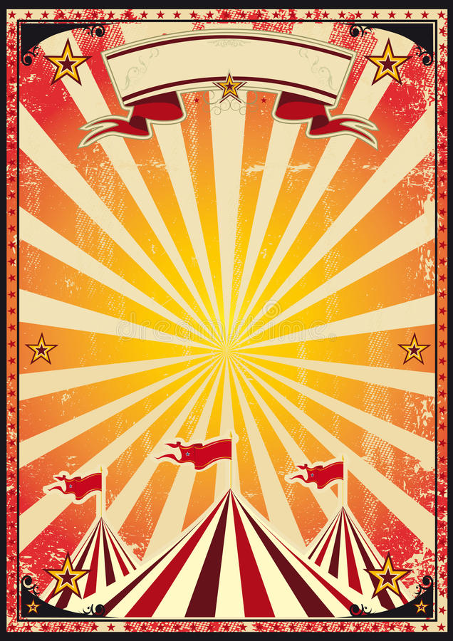 Red circus retro stock vector illustration of dirty for Circus posters free