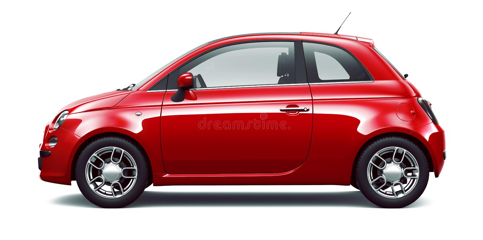 Red city car - side view stock illustration. Illustration ...