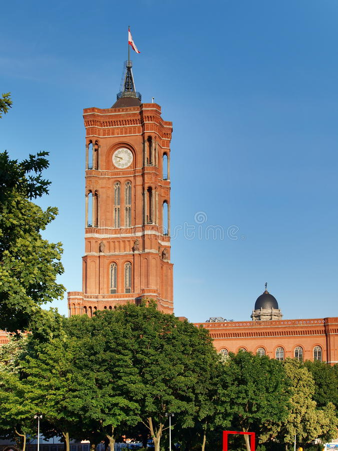 Red city hall royalty free stock photography