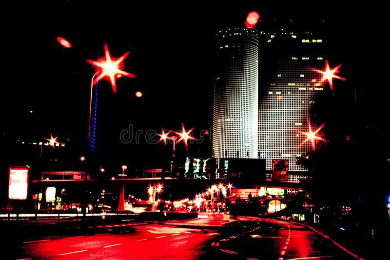 Red city light stock photography