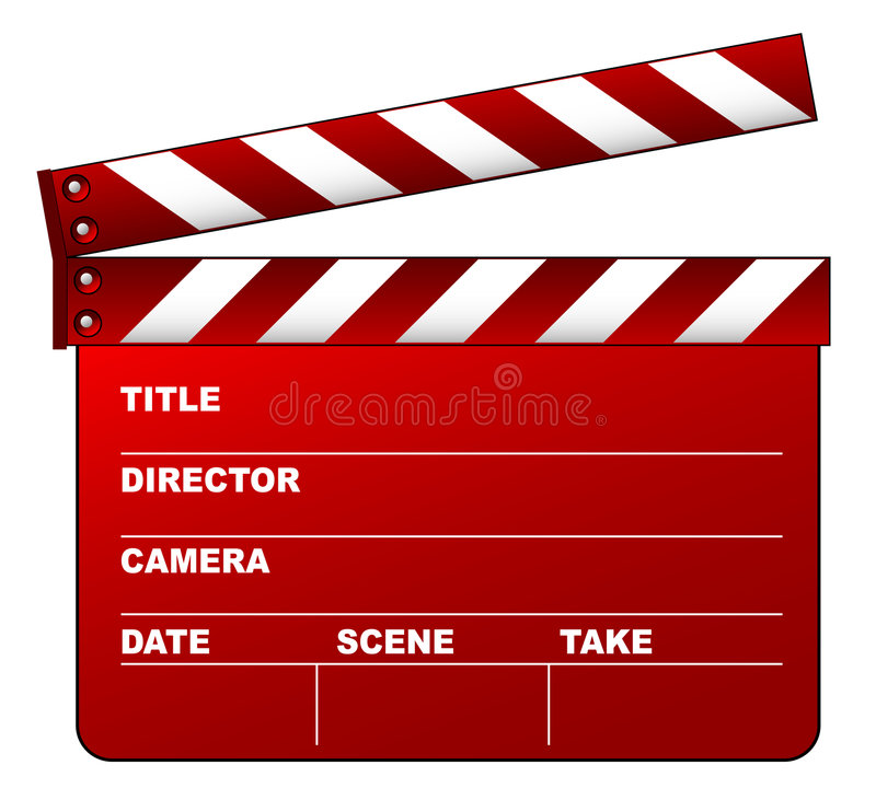 Download Red clapboard stock vector. Image of oscars, clapperboard - 4514428