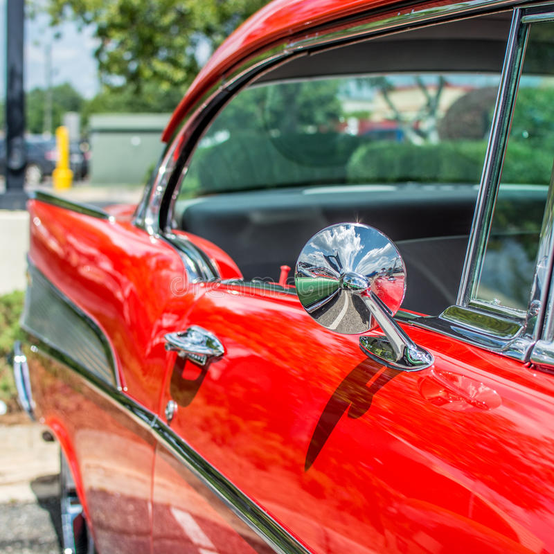 Red Classic Car Stock Photo Image Of Vintage Display - Car show display mirrors