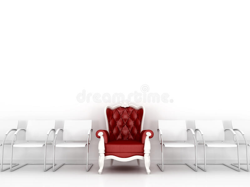 Download Red classic chair stock illustration. Illustration of dimensional - 25240812