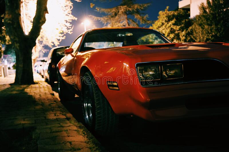 Red Classic Muscle Car royalty free stock photography