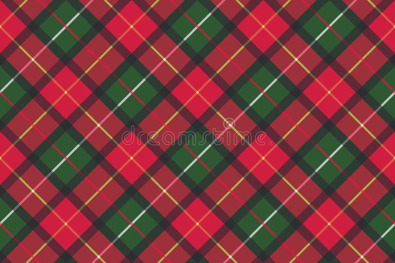 Red classic plaid pixel texture seamless pattern royalty free illustration