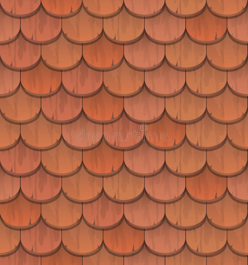 Download Red Clay Roof Tiles Stock Vector   Image: 52228151