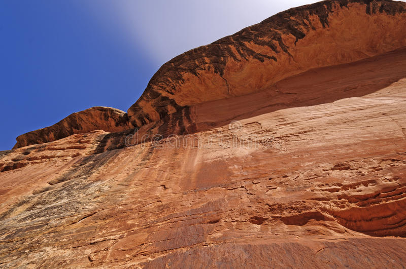Red Cliff in a desert canyon royalty free stock images