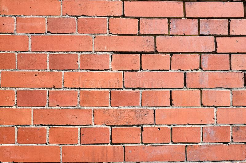 Red clinker brick wall. Background from a red clinker brick wall stock photography