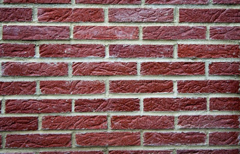 Red clinker wall. A red clinker wall in germany stock photos