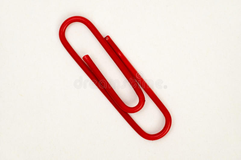 Red Clip royalty free stock image