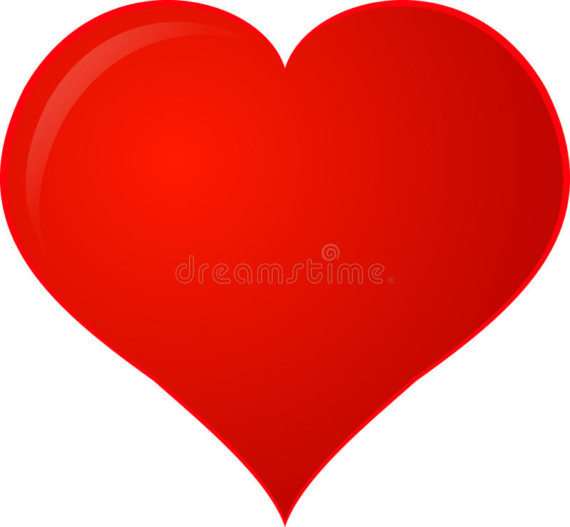 Red Clipart Heart royalty free illustration