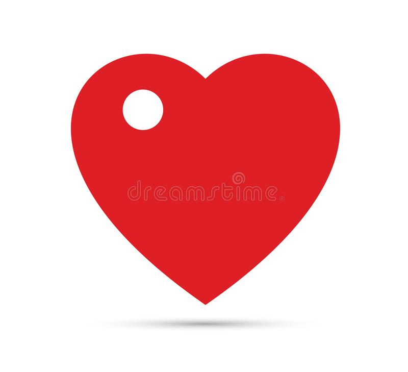 Red Clipart Heart with a hole vector illustration. vector illustration