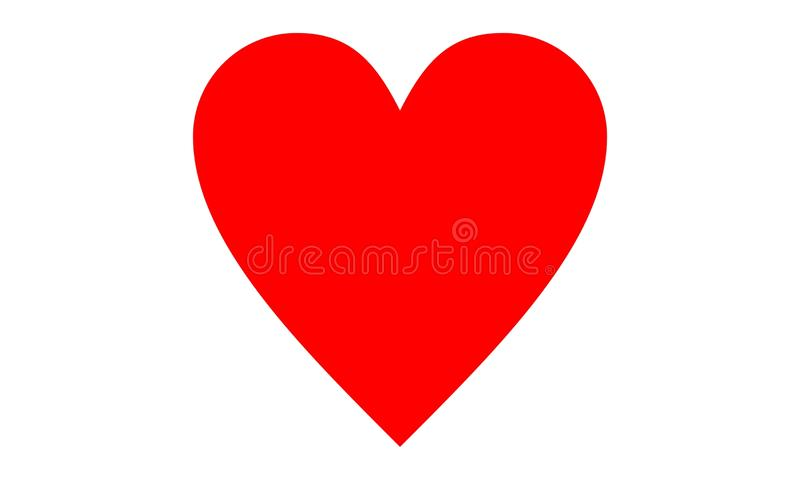 Red Clipart Heart vector. royalty free illustration
