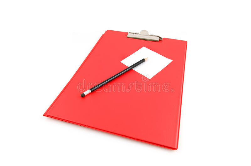 Download Red Clipbaord With Note Stock Image - Image: 12593371