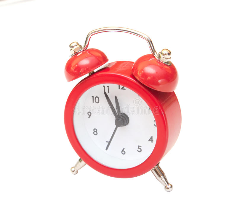 Download Red clock stock photo. Image of close, number, object - 27825236