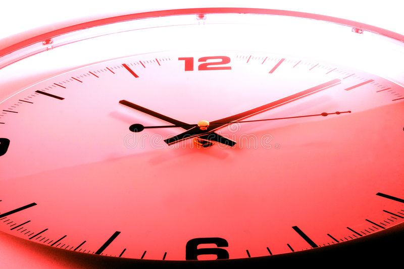 Red clock royalty free stock photo