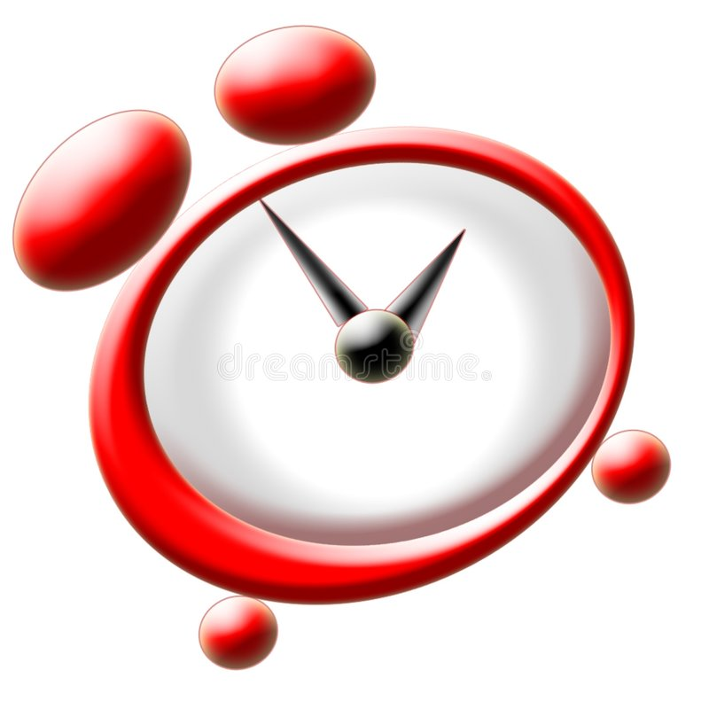 Download Red clock stock illustration. Illustration of wake, alarm - 86039