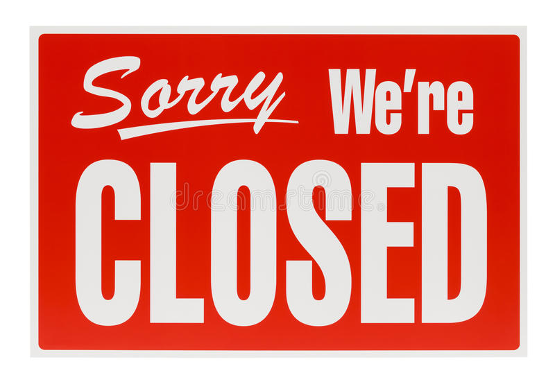Red Closed Sign stock images