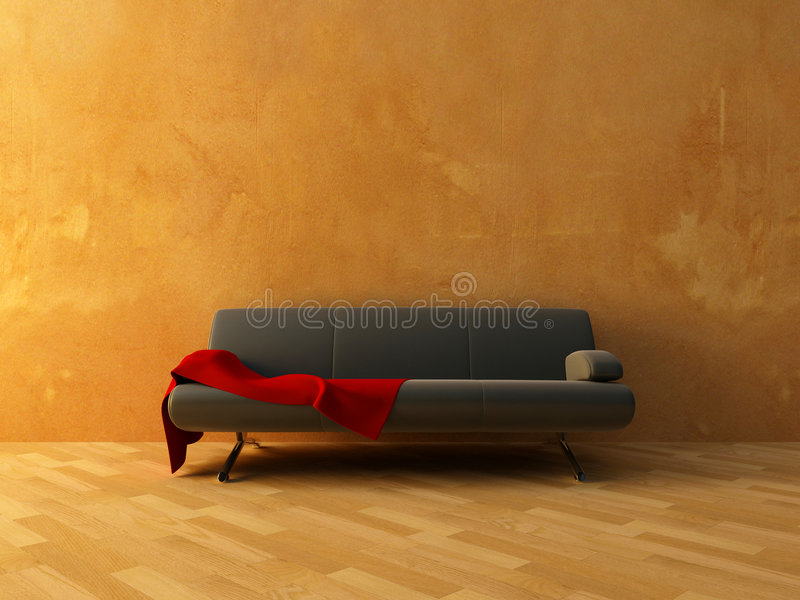 Download Red cloth on sofa stock illustration. Image of isolated - 8234907