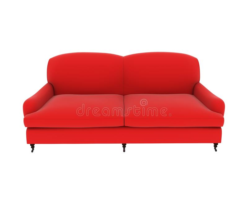 Red cloth sofa royalty free illustration