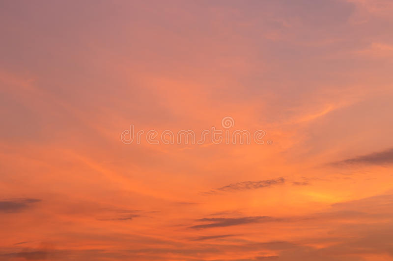 Red cloud over sky in sunset time. Beautiful red cloud over sky in sunset time royalty free stock image