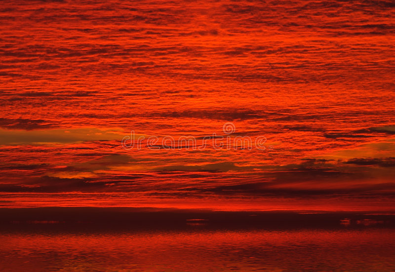 Download Red clouds on sunrise sky stock photo. Image of clouds - 3278284
