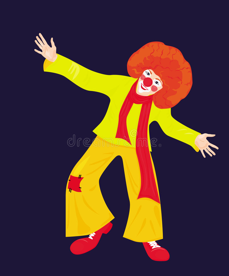 Red Clown Stock Photo