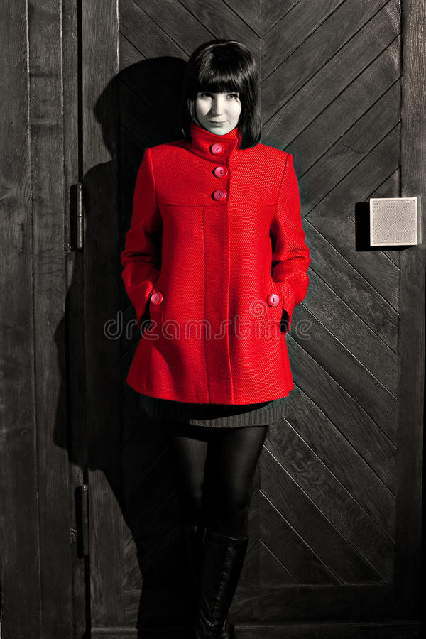 Download Red coat stock photo. Image of retro, brown, style, people - 28978590