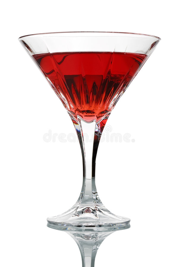 Red Cocktail in Glass stock images