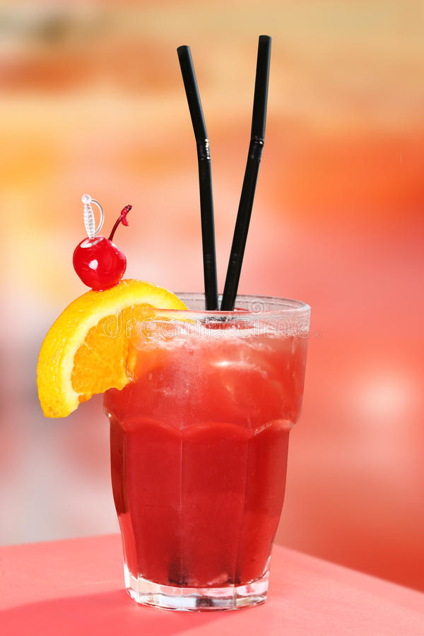 Download Red Cocktail stock image. Image of healthy, straw, cocktail - 35807575