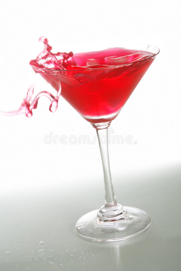 Red Cocktail And Ice 5 Royalty Free Stock Photo