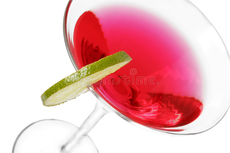 Red Cocktail with Lime royalty free stock photos