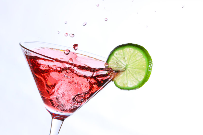 Download Red Cocktail With Lime On White Royalty Free Stock Photo - Image: 8940195