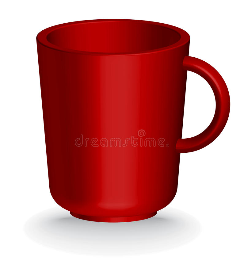 Red Coffe Or Tea Cup Royalty Free Stock Photo