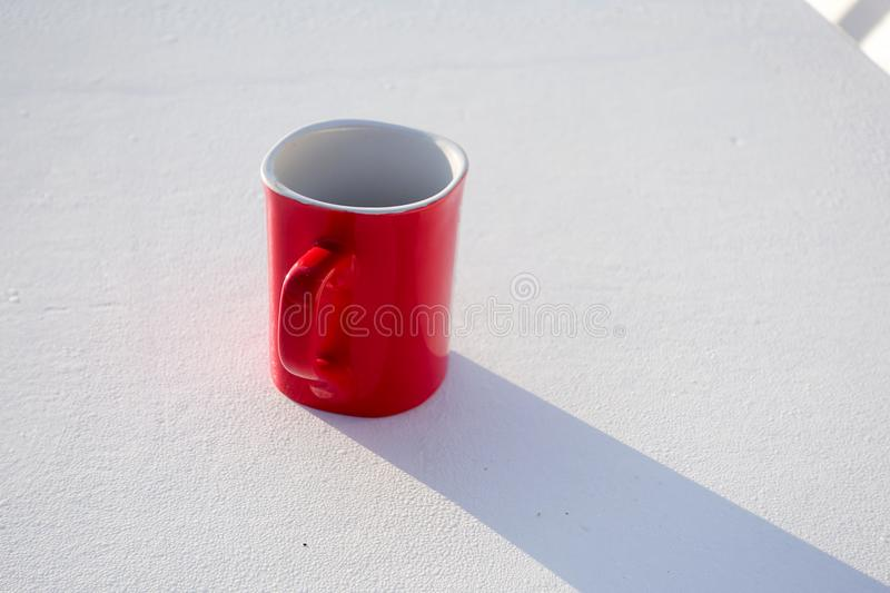 Red coffee cup isolated royalty free stock photo