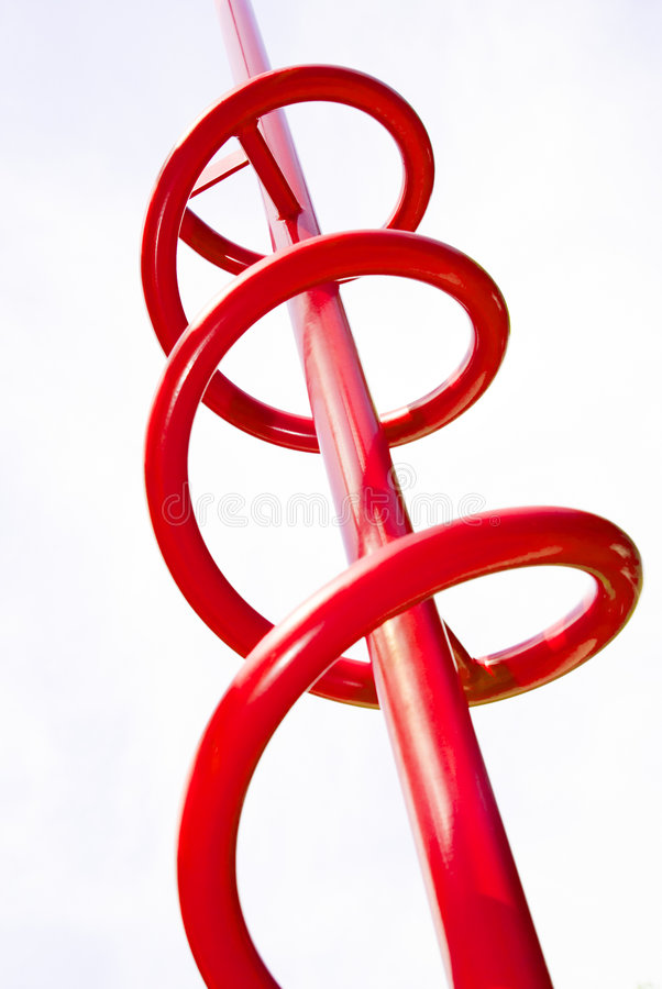 Red coil abstract. A red coil as an abstract photograph royalty free stock photography