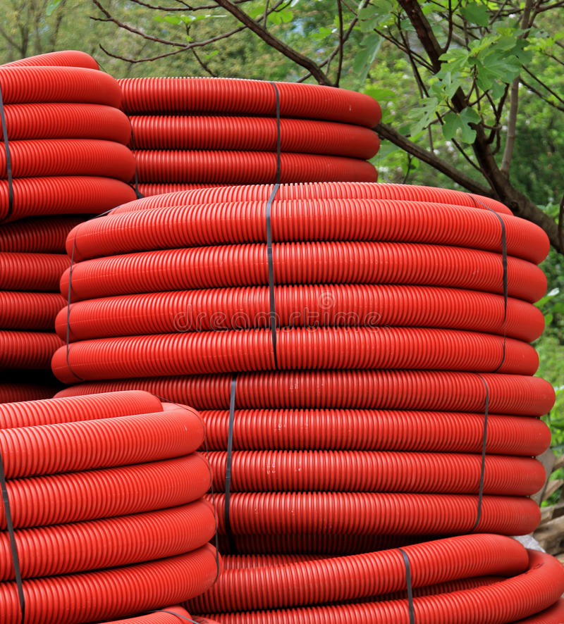 Red Coils Stock Image
