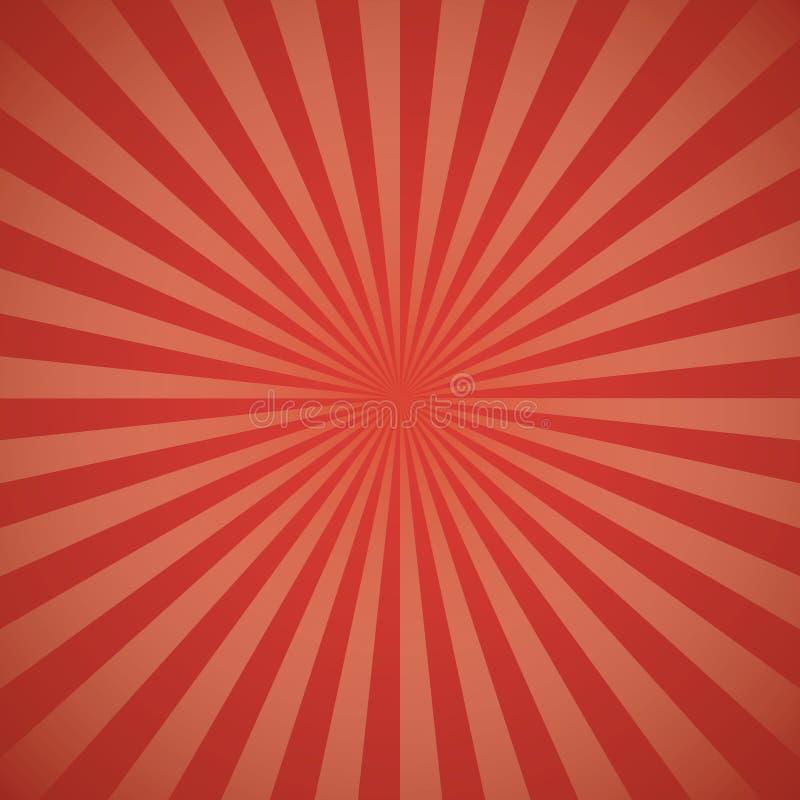 Red color burst background. royalty free illustration