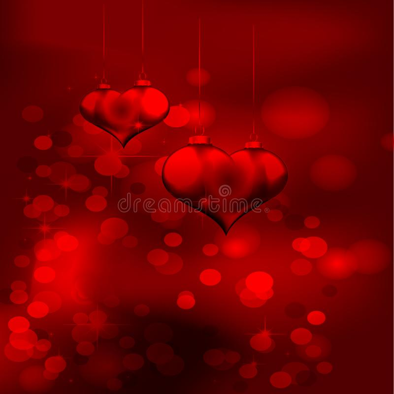 Red Color with Hearts background. We can use it photo background,cards,books,templates etc stock illustration