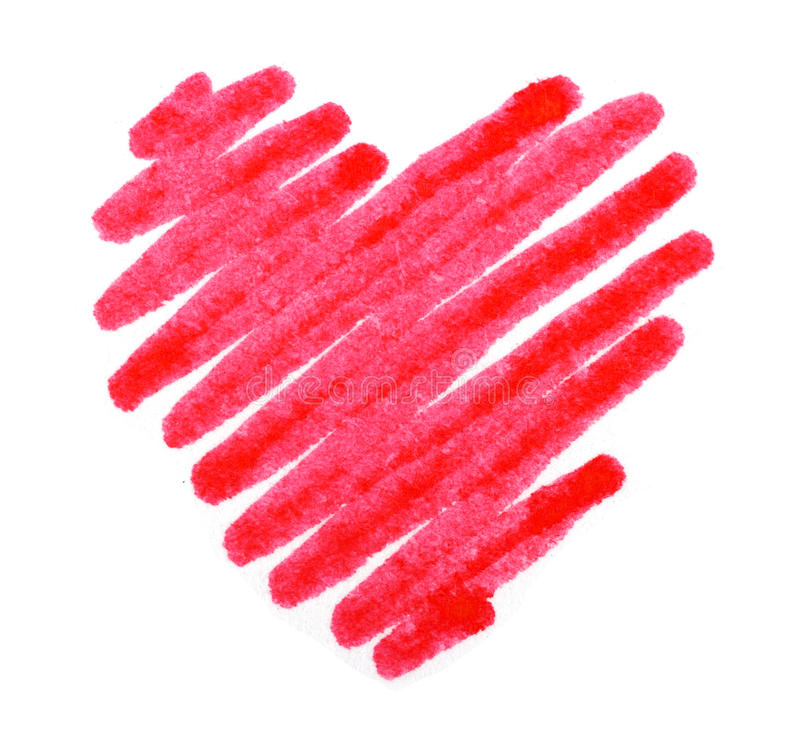 Download Red Color Drawing Stroke Heart Shape Stock Image - Image of creative, stroke: 28600821