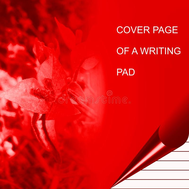 Red color writing pad shaded with lighting effect computer generated background image and wallpaper design vector illustration
